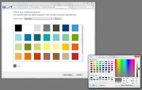 微软Windows 7设置的示例