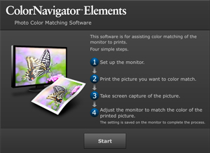 ColorNavigator Elements top window